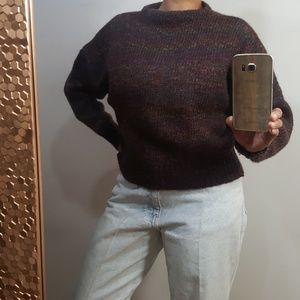 Vintage Wool & Mohair Purple Sweater Large
